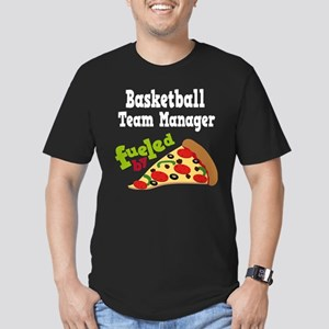 Basketball Team Manager Funny Pizza Men's Fitted T