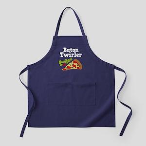 Baton Twirler Funny Pizza Apron (dark)