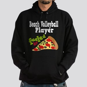 Beach Volleyball Player Pizza Hoodie (dark)