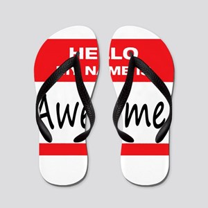 Awesome Name Tag Flip Flops