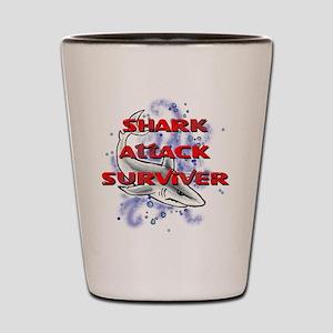 MT - Shark Attack Surviver - FINAL Shot Glass