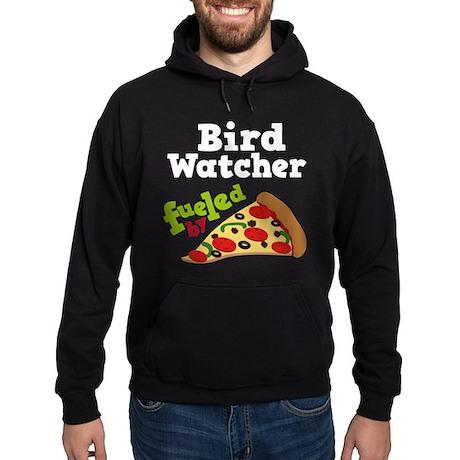 Bird Watcher Funny Pizza Hoodie (dark)