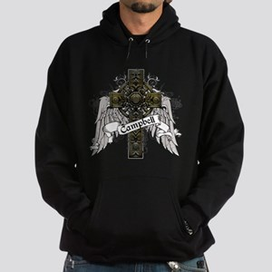 Campbell Tartan Cross Hoodie (dark)