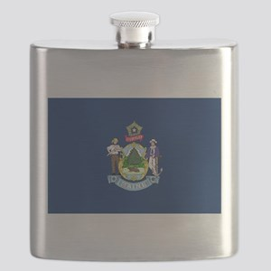Maine State Flag Flask
