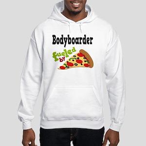Bodyboarder Funny Pizza Hooded Sweatshirt