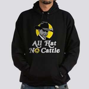 All Hat No Cattle - Obama Hoodie (dark)
