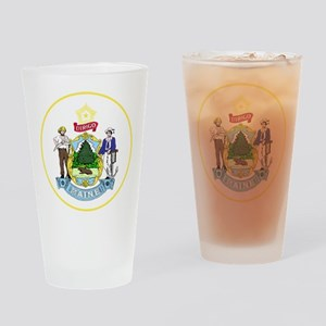 Maine State Seal Drinking Glass
