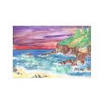 John Muir Beach product 35x21 Wall Decal
