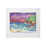 John Muir Beach product Throw Blanket
