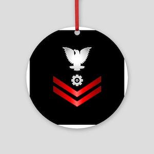 Navy PO2 Engineman Ornament (Round)