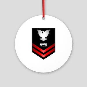 Navy PO2 Equipment Operator Ornament (Round)