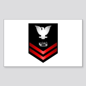 Navy PO2 Equipment Operator Sticker (Rectangle)