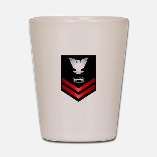Navy PO2 Equipment Operator Shot Glass