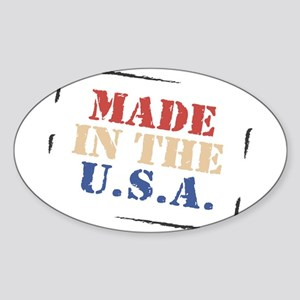 Made in the USA Oval Sticker