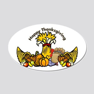 Thanksgiving Pumpkins 20x12 Oval Wall Decal