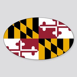 Maryland State Flag Sticker (Oval)
