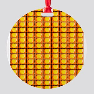 Tennis Ball Artistic Orange 4Harold Round Ornament