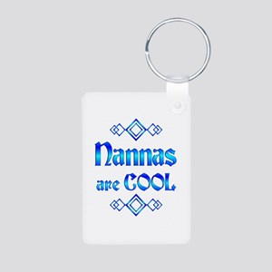 Nannas are Cool Aluminum Photo Keychain