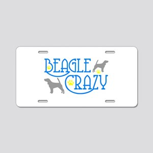 BEAGLE CRAZY Aluminum License Plate