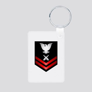 Navy PO2 Gunner's Mate Aluminum Photo Keychain