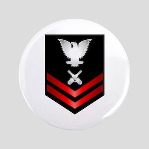 "Navy PO2 Gunner's Mate 3.5"" Button"