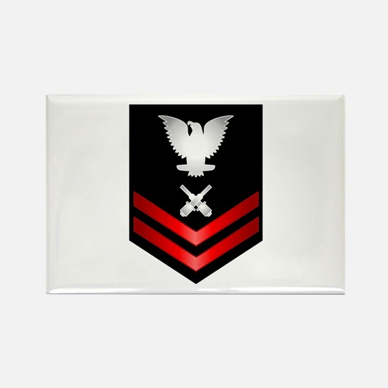 Navy PO2 Gunner's Mate Rectangle Magnet
