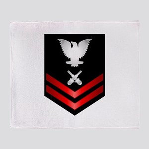 Navy PO2 Gunner's Mate Throw Blanket