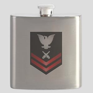 Navy PO2 Gunner's Mate Flask
