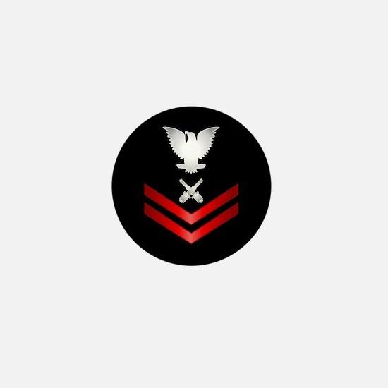 Navy PO2 Gunner's Mate Mini Button