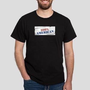 100% AMERICAN Black T-Shirt