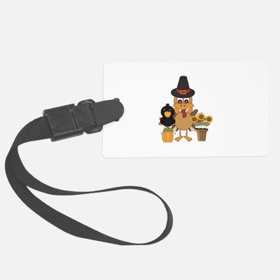 Thanksgiving Friends Luggage Tag