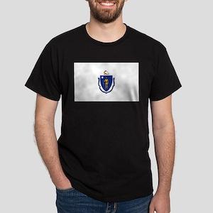 Massachusetts State Flag Dark T-Shirt