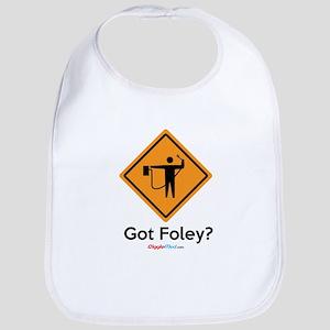 Foley Flagger Sign 02 Baby Bib