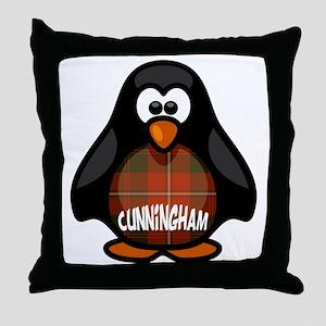 Cunningham Tartan Penguin Throw Pillow