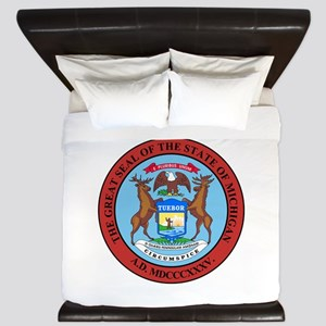 Michigan State Seal King Duvet
