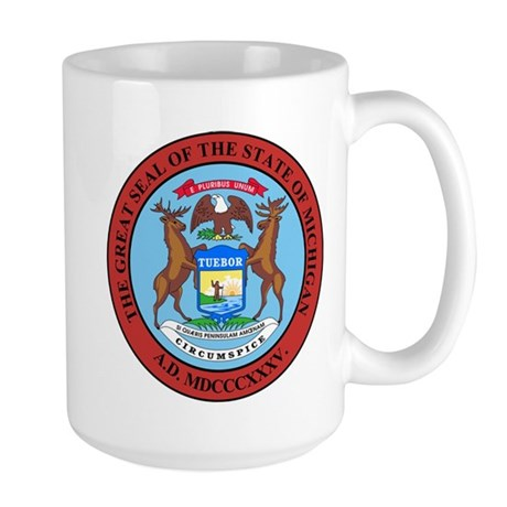 Michigan State Seal Large Mug