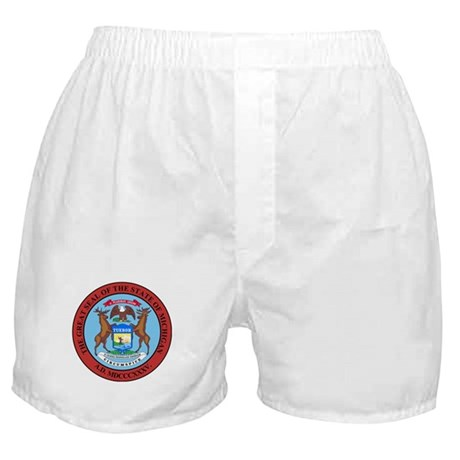 Michigan State Seal Boxer Shorts