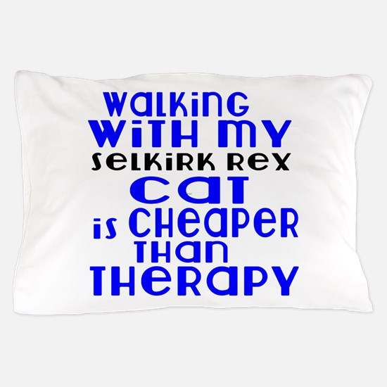 Walking With My Selkirk Rex Cat Pillow Case