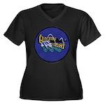 USS GUDGEON Women's Plus Size V-Neck Dark T-Shirt