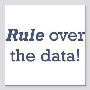 "Rule / Data Square Car Magnet 3"" x 3"""