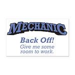 Mechanic / Back Off Rectangle Car Magnet