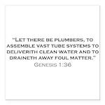 Plumber / Genesis Square Car Magnet 3