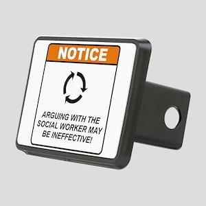 Social Worker / Argue Rectangular Hitch Cover
