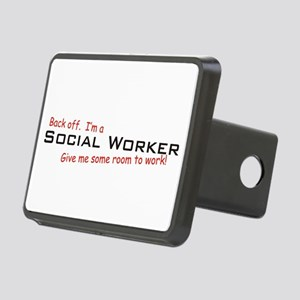 I'm a Social Worker Rectangular Hitch Cover