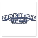 Truck Driving / Kings Square Car Magnet 3