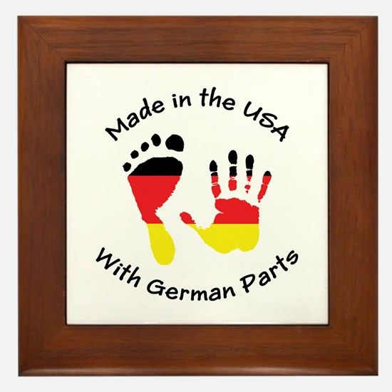 Made With German Parts Framed Tile