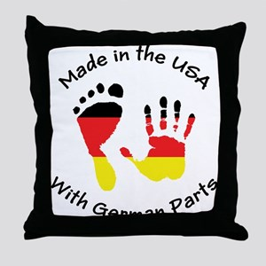 Made With German Parts Throw Pillow
