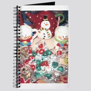 A Candy And Hot Chocolate Snowman Treat.. Journal