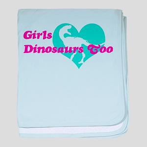 Girls (Heart) Dinosaurs Too baby blanket