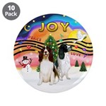 """XMusic2-Two Springer Spaniels 3.5"""" Button (10"""